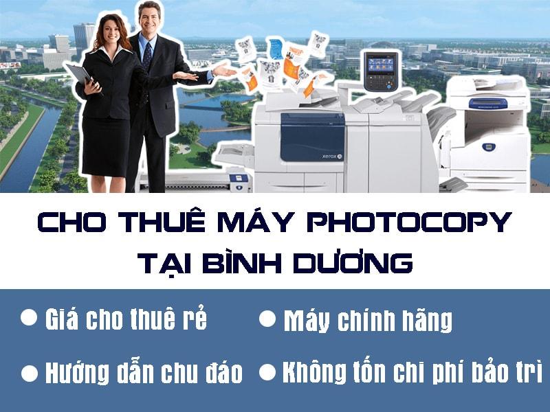 Cho thuê máy photocopy tại Bình Dương chính hãng giá tốt