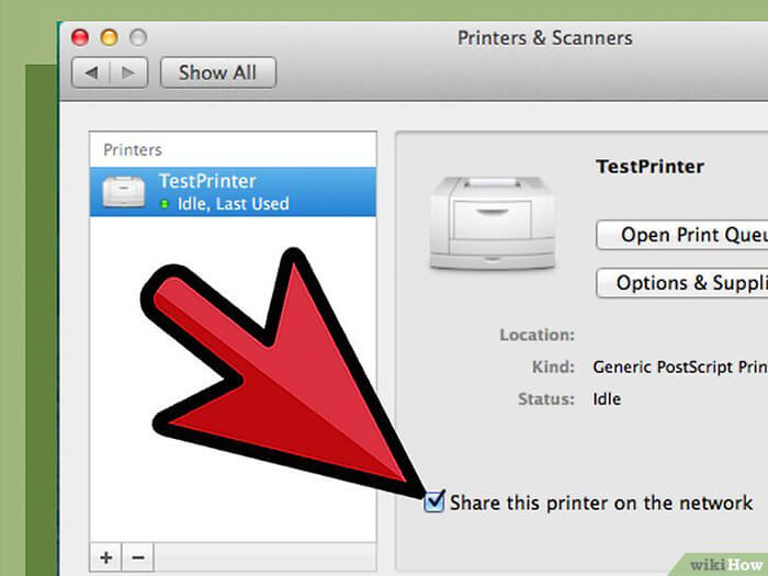 Cách Cài đặt Máy in qua Mạng máy in dùng chung với máy mac 3