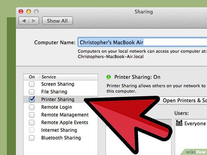 Cách Cài đặt Máy in qua Mạng máy in dùng chung với máy mac 4