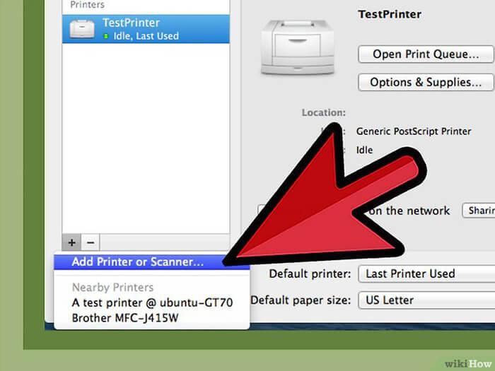 Cách Cài đặt Máy in qua Mạng máy in dùng chung với máy mac 6